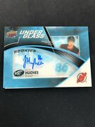 2019-20 Upper Deck Ice Under The Glass Jack Hughes Auto Nj Devils Rc Rookie