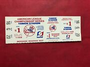 1970and039s Alcs Full Ticket New York Yankees Game 1