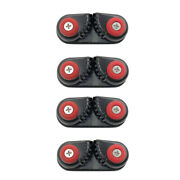 4pcs Composite Aluminum Ball Bearing Sailboat Cam Cleat Fast Entry Cam Cleat