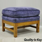 Stickley Mission Oak Arts And Crafts Upholstered Cushion Stool Ottoman Footstool