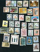 Italy Lot Of 34 Postage Stamps Mixture/variety 1970s