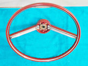1967 Lincoln Continental Sedan Coupe Convertible Original Red Steering Wheel