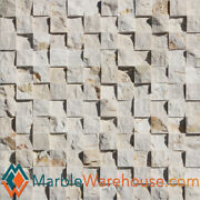 Sunny Gold Splitface 12x12 Marble Mosaic Tile 1 Square + Free Shipping