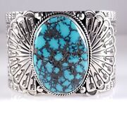 Turquoise Navajo Sterling Silver Bracelet Rare Web Hubei By Sunshine Reeves