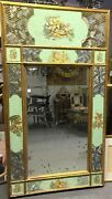 Antique Mirror, Hand Decorated / Painted / Etched Glass Mirror, Gorgeous