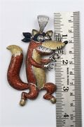 925 Sterling Silver Swiper Cartoon Character Cz Party Wear And Unisex Pendant