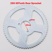 Steel 65 Tooth 29mm 25h Rear Chain Sprocket For 47 49cc Goped Scooter Mini Moto