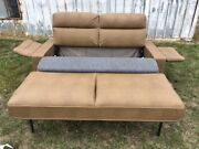 Flexsteel 73 Sofa Ft Bed With Air Mattress Brown Couch Rv Motorhome Coach