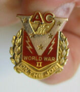 Wwii Ac Spark Plugs War Worker Production E Victory 10k Gold Pin
