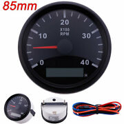 85mm 4000rpm Tachometer With Led Digital Hourmeter Marine Outboard Diesel Engine