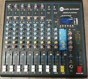 Mj Audio 10 Channel Compact Mixer W/ Effects And Built-in Usb/sd Card/bluetooth