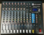 Mj Audio 12 Channel Compact Mixer W/ Effects And Built-in Usb/sd Card/bluetooth