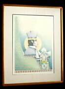 John L. Doyle The Great Human Race Counselors Knowledge Lithograph Xl/l Framed