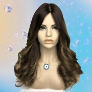 Kosher Wig European Human Hair By Elana Wigs.brown With Highlights M23andrdquo Wavy