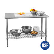 Seville Classics Commercial-grade Nsf Stainless Steel Top Worktable 49w X 24d