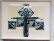 Set Of Two Handmade Collectible Fine Art Abstract Western Wall Hangings