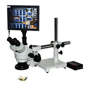 Pcb Inspection Mobile Repair 20x-40x Boom Stereo Microscope Wd 100mm/4 W Lcd