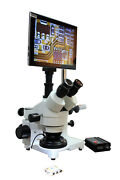 Pcb Inspection Mobile Repair 10-30x Boom 3d Stereo Microscope Wd 100mm4 W Lcd