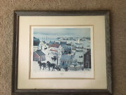 """Will Moses Gingerbread Cove 26"""" X 29"""" Painting Signed Framed Numbered Lithograph"""