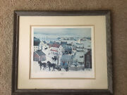 Will Moses Gingerbread Cove 26andrdquo X 29andrdquo Painting Signed Framed Numbered Lithograph