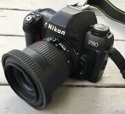 Nikon N80 And 35mm Slr Film Camera With Nikkor 35/80 As Is Untested