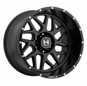 20x12 Hostile H108 Sprocket Asphalt Matte Black Wheels 6x135 -44mm Set Of 4