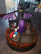 Extremely Rare Walt Disney Mickey Mouse Fighting Dragon Big Figurine Statue