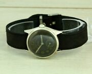 Para Dh Wwii Swiss Made Wristwatch For German Army, Black Dial. Cal. As 1130