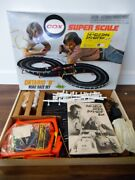 Vintage 70's Cox Super Scale Ontario 8 Slot Car Set New Old Stock Works