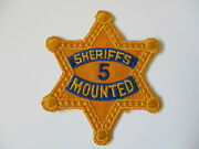 Vintage 1960 Era Los Angeles County Califonia Sheriff Mounted Posse Police Patch