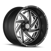 22x12 American Truxx Atf1910 Kronos Forged Blk Milled Wheel 8x6.5 -44mm Set Of 4