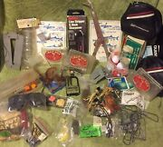 Assorted Lot Of Vintage Fishing Items Jigs Hooks Reel Covers Lures Lqqk 👀