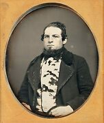 Tanner With Cowhide Waistcoat + Pins Occupational 1/6 Plate Daguerreotype F334