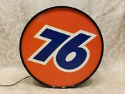 Union 76 Lighted Sign - Mini Lighted Union 76 Sign - Unocal 76 - 11 Sign