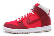 Nike 317982 612 Dunk High Menand039s Shoes Hyper Red Retro Athletic Vintage New