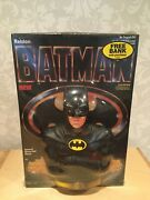 Vintage 1989 Batman Cereal With Michael Keaton Coin Bank Ralston New Sealed
