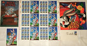 Bugs Bunny 6 Pane Poster Stamps First Day Memorabilia1997 Envelope Comic Book++