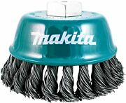 Makita 1 Piece - 4 Inch Knotted Wire Cup Brush For Grinders - Heavy-duty Cond...
