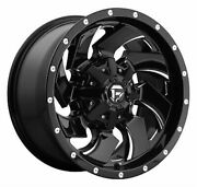 4 New 22x12 Fuel Cleaver Gloss Black And Milled Wheel/rim 5x114.3 5-114.3 22-12