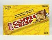 48 X 50 Gram Nestle Coffee Crisp Full Size Chocolate Bars Made Canada Free Ship