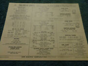 1966 Pontiac Tempest 389 V-8 Engine With Transistor Ignition Sun Tune-up Chart