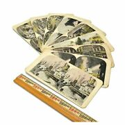 Antique Stereoscope / Stereograph Card Lot Of 9 War Stereoviews Army/navy Wwi