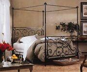 Charles P. Rogers Florentine Canopy Iron Bed Queen Size