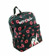Betty Boop Microfiber Large Backpack With 16 Inches Height Black Black