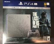Sony Ps4 Pro 1tb The Last Of Us Part Ii Limited Edition Bundle New