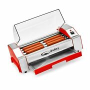 The Candery Hot Dog Roller - Sausage Grill Cooker Machine - 6 Hot Dog Capacit...