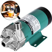 Magnetic Drive Water Pump Mp-15r Stainless Head Beer Pump For Homebrew 1/2 Mpt