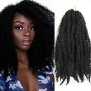 Synthetic Marley Crochet Braids Hair Natural Black 1b Red Pink Color 18 Inch
