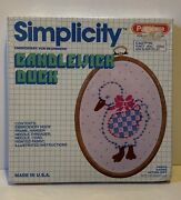 Pastime Simplicity Candlewick Embroidery Kit For Beginners Candlewick Duck Nib