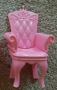 Lot 2 Barbie Doll House Swan Lake Castle Princess Pink Throne Chairs Furniture